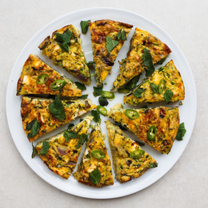 Courgette, Feta and Mint Frittata