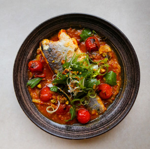 Sea Bass with Fennel, Tamarind and Lime Herb Salad