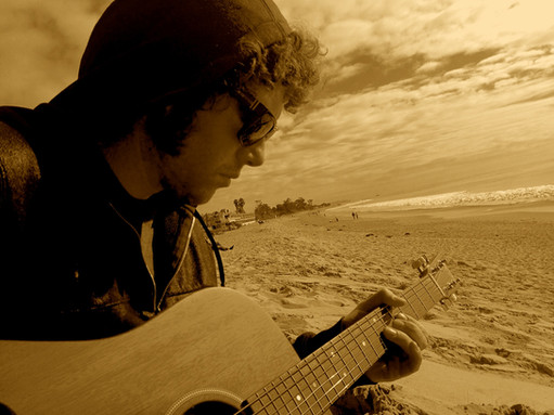Jamming at the beach