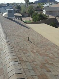 Shingle Roof Flat Deck