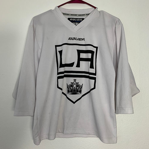 NHL LA Kings White Jersey Sz Youth M