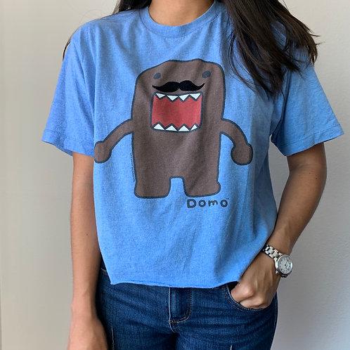 Domo Blue Crop Top T Shirt Sz M