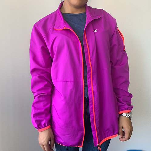 Champion Purple Windbreaker Jacket Sz L
