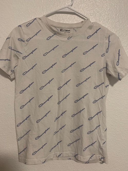 Champion Logo Kids T Shirt Sz XL