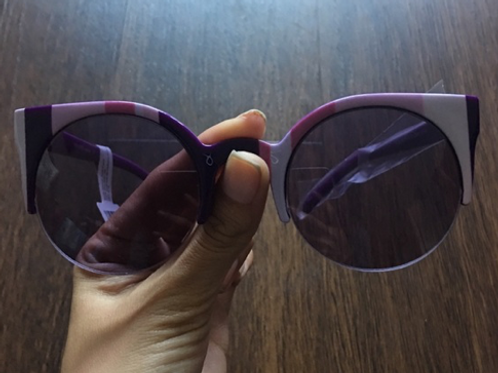Perverse Purple Doll Face Sunglasses