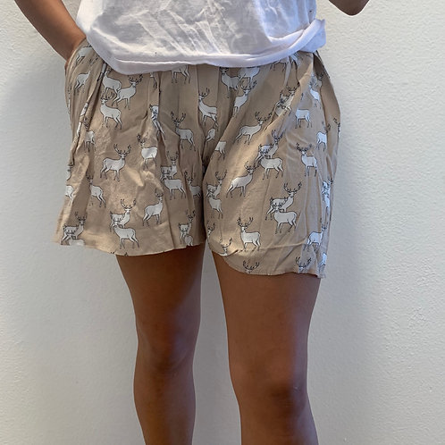 Zara Deer Brown Shorts Sz XS