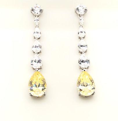 Canary Pear Drop Earrings