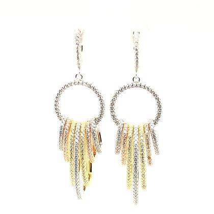 Tri-Color Looped Earrings