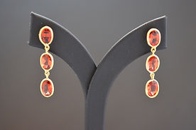 Drop Sunstone Earrings