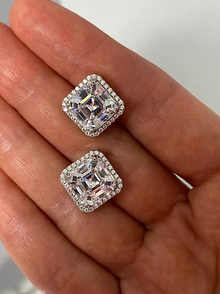 Classic Asscher cut earrings