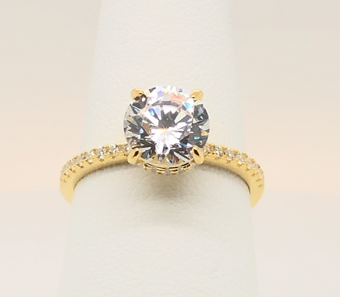 Fancy Solitaire Ring-Yellow