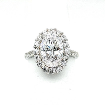 Classic Colorless Halo Ring