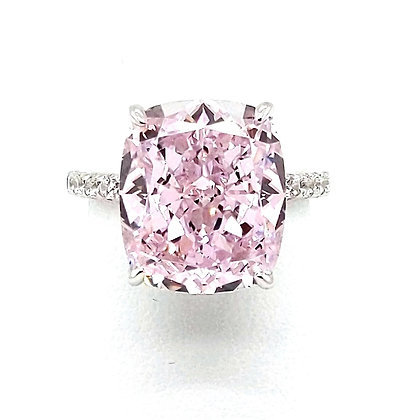 Pink Cushion Cut Ring