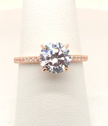 Fancy Solitaire Ring-Rose