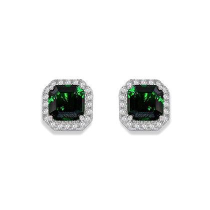 Emerald Halo Studs