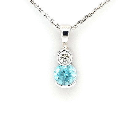 Diamond and Zircon Pendant
