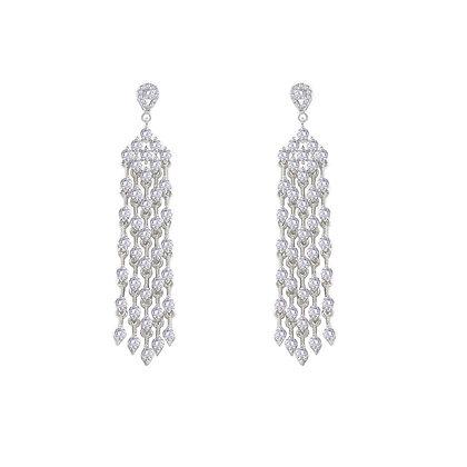 Diamond shaped Chandelier Earrings