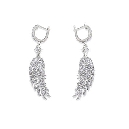 Wing Shaped Drop Earrings