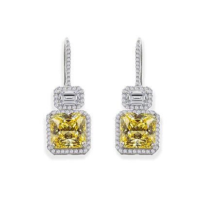 Canary Yellow Halo Earrings