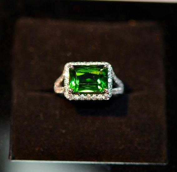 Gorgeous Green Tourmaline Ring