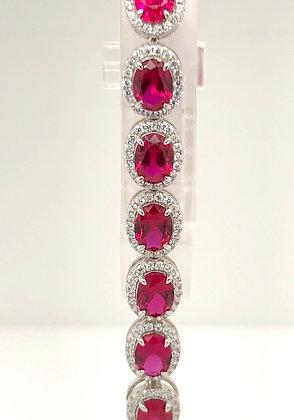 Ruby Halo bracelet