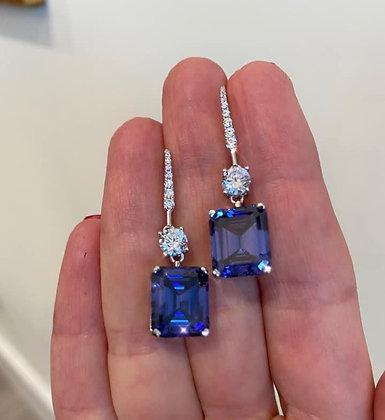 Sapphire Earrings - Graff Look-alike
