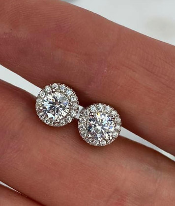 Classic Halo Stud Earrings
