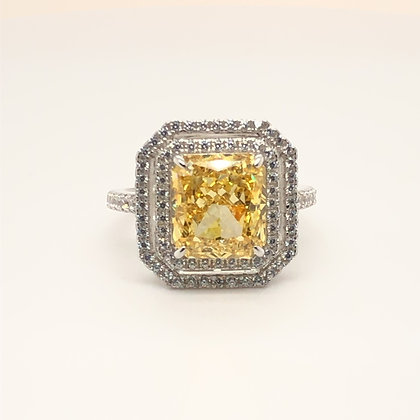 Pretty Yellow Halo Ring