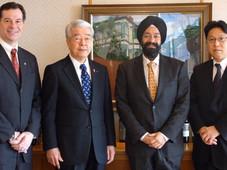神戸市長 矢田立郎氏を公式訪問  Official Visit with Tatsuo Yada, Mayor of Kobe City