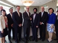 ジェイソン・P・ハイランド在日米国大使館首席公使と在日米国商工会議所 (ACCJ)リーダーが大阪で面談。弊社社長キランはACCJ関西支部代表として参加