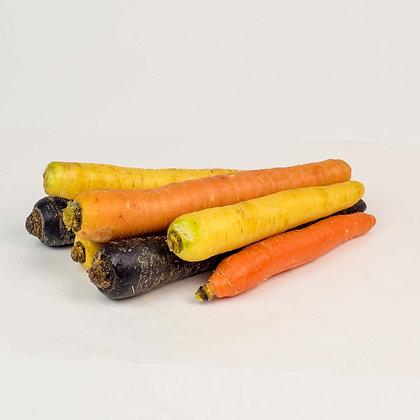 Les carottes de couleurs, variété ancienne ~ 500 gr