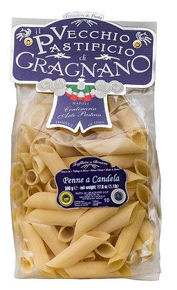 "Pâte  I.G.P de Gragnano, ""Penne e Candela"", le sachet de 500 gr"