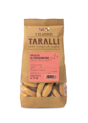 Taralli au piment, le sachet de 250 gr