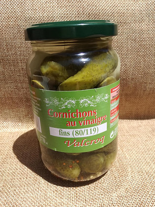 Cornichons au vinaigre, pot de 370 ml
