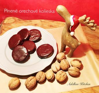 PLNENÉ ORECHOVÉ KOLIESKA poliate čokoládou