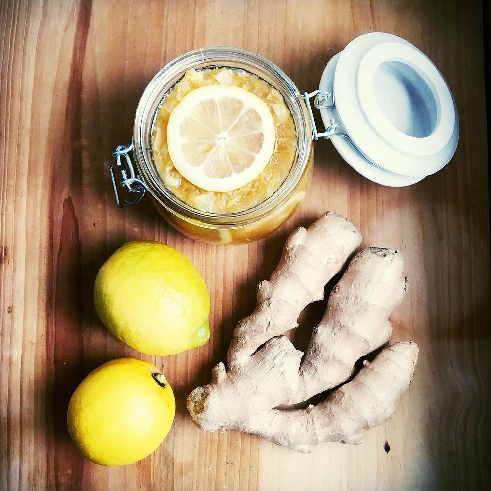 citrón v cukre, zázvor v cukre, nakladaný citrón