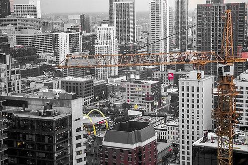 Cranes over Clark