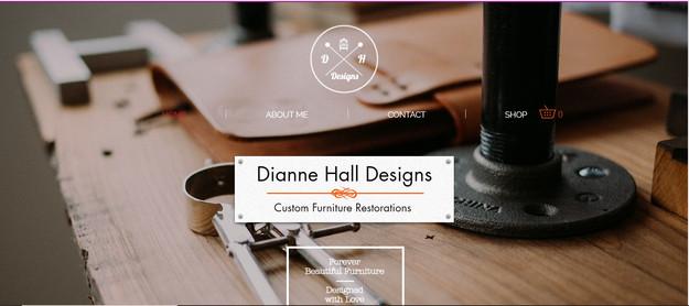 Restoration designer website design