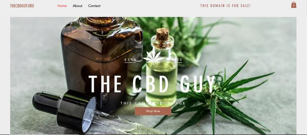 CBD/THC website design