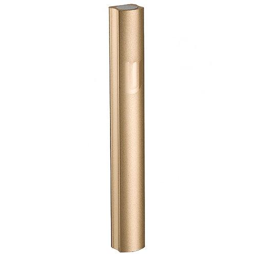 Aluminum Mezuzah 10cm- Matte Gold Metal Chain Design