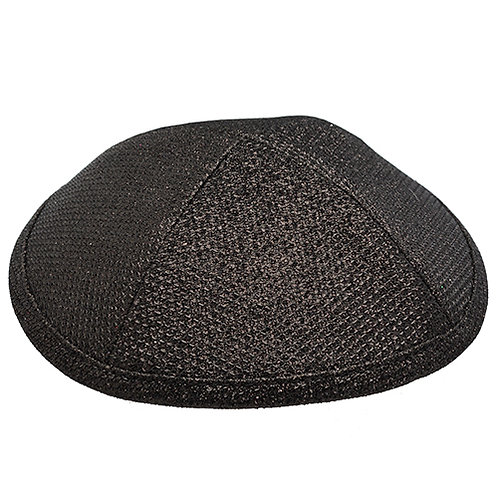 Shiny Black Kippah fabric high quality #128