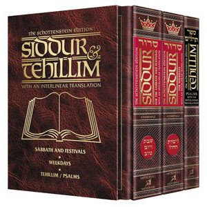 Schottenstein Siddur & Tehillim - Interlinear Translation 3 Vol Slipcased Set Se