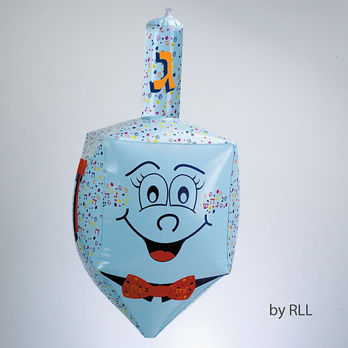"24"" INFLATABLE DREIDEL, CARDED"