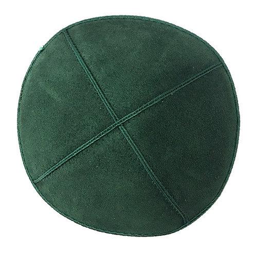 Dark Green Suede Kippah