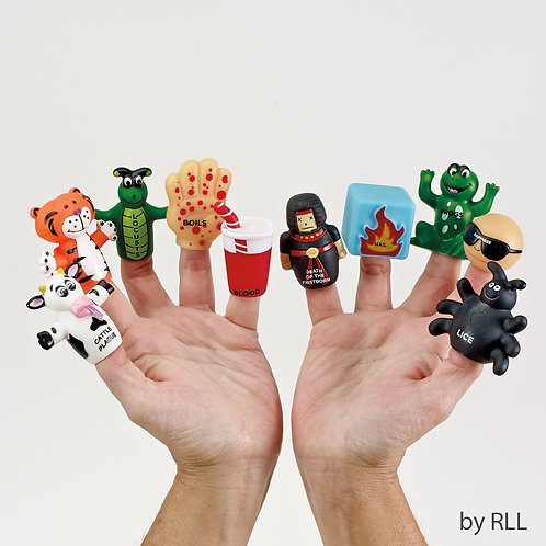 Ten Plague Vinyl Finger Puppets