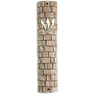Mezuzah case Polyrasin, stone 12 cm