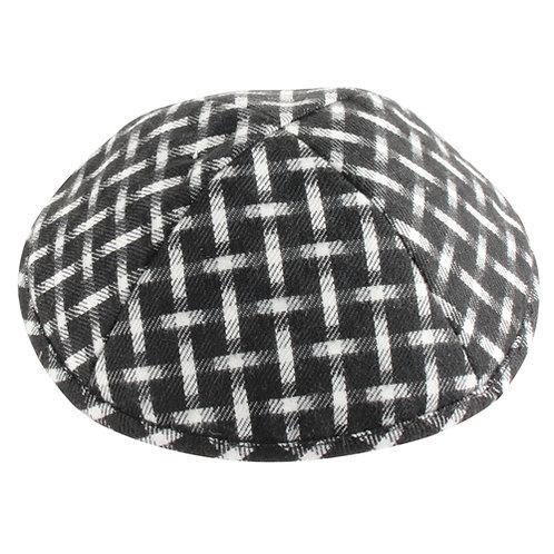 Fabric Kippah 17 Cm- Squares 11979