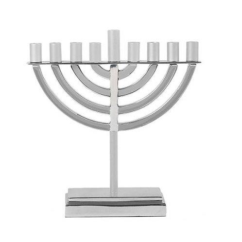 Classic Hanukkah Menorah - Silver Emanuel HR-4