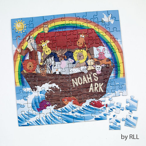 """NOAH'S ARK JIGSAW PUZZLE, 100 PC., 10"""" X 10"""" lorem ipsum dolor sitlorem ipsum do"""
