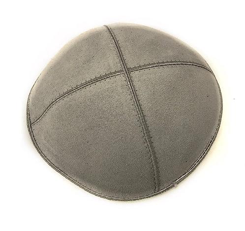 Grey Suede Kippah